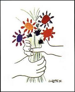 Pablo Picasso: Hands with Bouquet